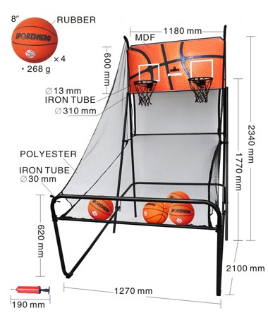 Basketball Double Shot Arcade System