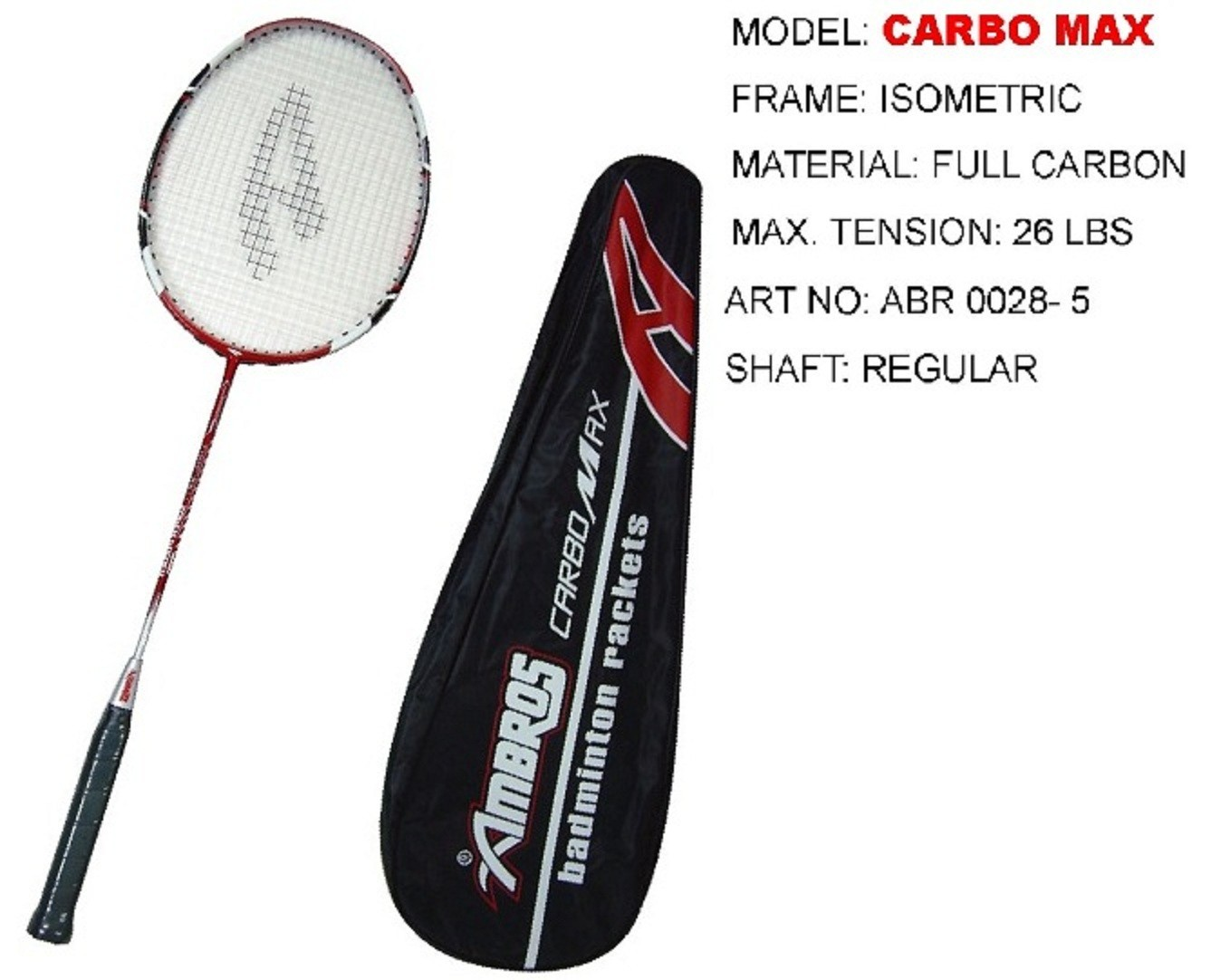 Ambros Badminton Racket Carbo Max