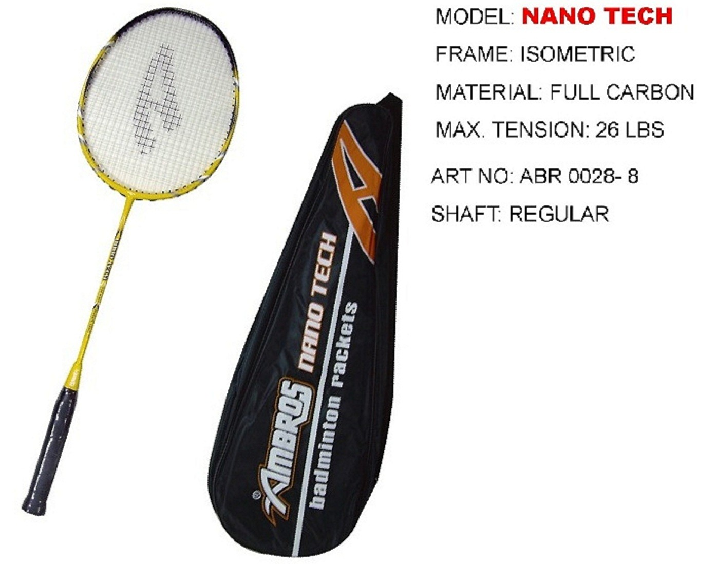 Ambros Badminton Racket Nano Tech