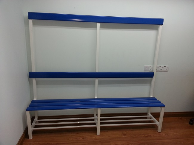 Aluminium Locker Bench 'Aluex' Blue