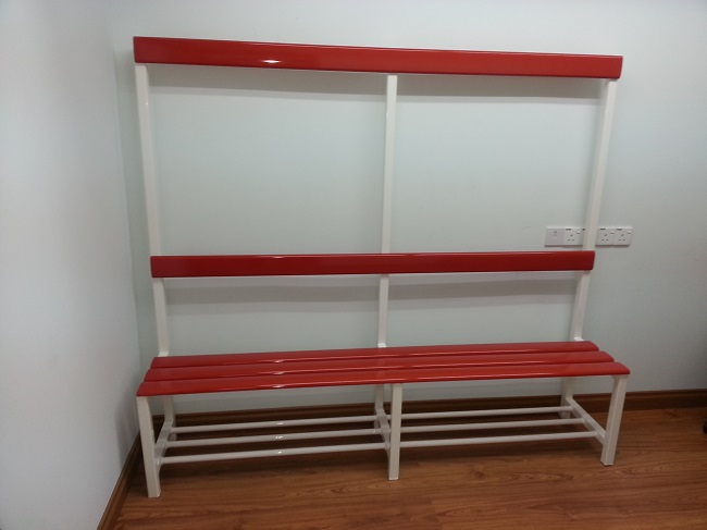 Aluminium Locker Bench 'Aluex' Red
